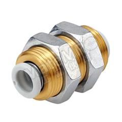 穿板接头 KQ2系列 KQ2E08-00N 制造商系列:KQ2 类型:接头 管连接 A:推入式 8 mm 管连接 B:推入式 8 mm 安装孔直径:17mm 主体材料:PBT的 螺纹材料:黄铜 加工:镀镍 最大操作压力:1 MPa 管连接 B - 管尺寸:8mm 最高工作温度:+60°C 最低工作温度:-5°C 管连接 A- 类型:推入式 管连接 - 管尺寸:8mm 管连接 B - 类型:推入式  包