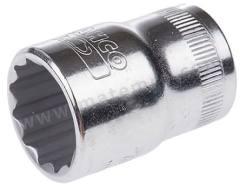 插座 7800DZ-7/16 插座尺寸:7/16in 驱动器大小:1/2 in 插座类型:双六角 驱动类型:方形 总体长度:38 mm 润饰:抛光 材料:合金钢  个