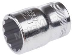 插座 7800DM-18 插座尺寸:18mm 驱动器大小:1/2 in 插座类型:双六角 驱动类型:方形 总体长度:38 mm 润饰:抛光 材料:合金钢  个