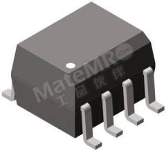 光耦合器 VOD205T 安装类型:表面安装 输出设备:晶体管 最大正向电压:1.55V 通道数目:2 针数目:8 封装类型:SOIC 输入电流类型:直流 典型上升时间:5µs 最大输入电流:30 mA 隔离电压:4000 V ac 最大电流传输比:80% 典型下降时间:4µs 最小电流传输率:40 %  TA