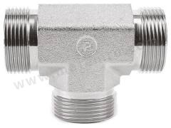 液压三通接头 6JMK4S 连接器 A:BSPP 3/8 外螺纹 连接器 B:BSPP 3/8-19 插入式 分支接头:BSPP 3/8 外螺纹 材料:钢 加工:镀锌 最大操作压力:350 bar 连接器 - 性别:公 连接器 - 螺纹标准:BSP 连接器 B - 性别:公 连接器 B - 螺纹标准:BSP 分支接头 - 性别:公 分支接头 - 螺纹标准:BSP  个