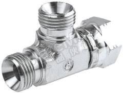 液压三通接头 4R6MK4S 连接器 A:G 1/4 母 连接器 B:G 1/4 母 分支接头:G 1/4 公 材料:钢 加工:镀锌 最大操作压力:350 bar 连接器 - 性别:母 连接器 - 螺纹标准:G 连接器 B - 性别:母 连接器 B - 螺纹标准:G 分支接头 - 性别:公 分支接头 - 螺纹标准:G  个