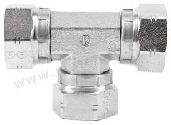 液压三通接头 8J6MK4S 连接器 A:G 1/2 母 连接器 B:G 1/2 母 分支接头:G 1/2 母 材料:钢 加工:镀锌 最大操作压力:199 bar 连接器 - 性别:母 连接器 - 螺纹标准:G 连接器 B - 性别:母 连接器 B - 螺纹标准:G 分支接头 - 性别:母 分支接头 - 螺纹标准:G  个