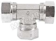 液压三通接头 16J6MK4S 连接器 A:G 1 母 连接器 B:G 1 母 分支接头:G 1 母 材料:钢 加工:镀锌 最大操作压力:115 bar 连接器 - 性别:母 连接器 - 螺纹标准:G 连接器 B - 性别:母 连接器 B - 螺纹标准:G 分支接头 - 性别:母 分支接头 - 螺纹标准:G  个