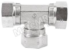 液压三通接头 6J6MK4S 连接器 A:G 3/8 母 连接器 B:G 3/8 母 分支接头:G 3/8 母 材料:钢 加工:镀锌 最大操作压力:350 bar 连接器 - 性别:母 连接器 - 螺纹标准:G 连接器 B - 性别:母 连接器 B - 螺纹标准:G 分支接头 - 性别:母 分支接头 - 螺纹标准:G  个