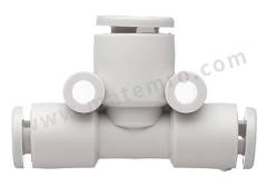 气动隔板管-管适配器 KJT系列 KJT04-06 制造商系列:KJT 类型:T 形 管连接 A:推入式 4 mm 管连接 B:推入式 4 mm 主体材料:PBT的 螺纹材料:黄铜 加工:镀镍 最大操作压力:3(保护)MPa,1 MPa 管连接 B - 管尺寸:4mm 最高工作温度:+40 (Water) °C, +60 (Ambient) °C 最低工作温度:0 (Water) °C, -5 (Ambient) °C 管连接 A- 类型:推入式 管连接 - 管尺寸:4mm 管连接 B - 类型:推入式 连接类型:管对管  包