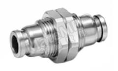 气动隔板管-管适配器 KQG2E16-00 类型:直向 管连接 A:推入式 16 mm 管连接 B:推入式 16 mm 安装孔直径:28mm 最大操作压力:1 MPa,3(保护)MPa 管连接 B - 管尺寸:16mm 最高工作温度:+150°C 最低工作温度:-5°C 管连接 A- 类型:推入式 管连接 - 管尺寸:16mm 管连接 B - 类型:推入式 形状类型:直向 符合标准:IEC、ISO、符合 RoHS 标准 连接类型:管对管  个