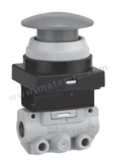 VM100 系列 红色 按钮(蘑菇头) 气动手动控制阀 VM130-01-30RA 控制机制:按钮(蘑菇头) 连接口螺纹:R 1/8 螺纹尺寸:1/8 螺纹标准:R 制造商系列:VM100 控制按钮/开关颜色:红色 最大操作压力:1 MPa 最低工作温度:-5°C 最高工作温度:+60°C 端口数目:3 位置数目:2  个