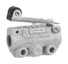 VM100 系列 滚轮杠杆 气动手动控制阀 VM131-01-01SA 控制机制:滚轮杠杆 连接口螺纹:R 1/8 螺纹尺寸:1/8 螺纹标准:R 制造商系列:VM100 最大操作压力:1 MPa 最低工作温度:-5°C 最高工作温度:+60°C 端口数目:3 位置数目:2  个