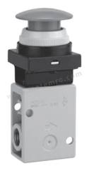 VM200 系列 红色 按钮(蘑菇头) 气动手动控制阀 VM230-02-30RA 控制机制:按钮(蘑菇头) 连接口螺纹:R 1/4 螺纹尺寸:1/4 螺纹标准:R 制造商系列:VM200 控制按钮/开关颜色:红色 最大操作压力:1 MPa 最低工作温度:-5°C 最高工作温度:+60°C 端口数目:3 位置数目:2  个